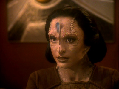 NAME THE EPISODE: Kira is captured and transported to Cardassia Prime, where she wakes up in the guise of a Cardassian woman.