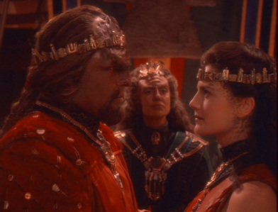 NAME THE EPISODE: Dax and Worf tie the knot in a traditional Klingon ceremony.