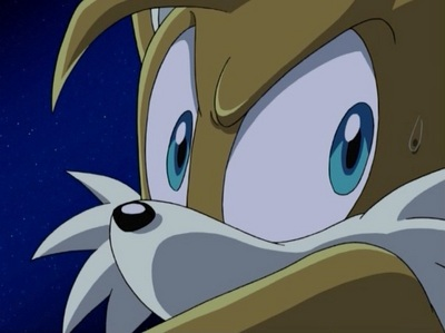 "in episode one ""chaos control freakes"" what is the first word tails says?"