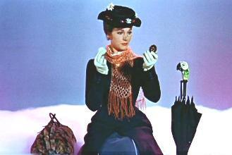 In which direction must the wind be blowing in order for Mary Poppins to visit?