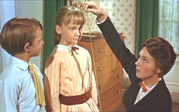 When Mary measures Jane with the tape measure, what does it say about her?