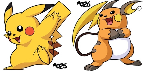 What causes পিকাচু to evolve into Raichu?