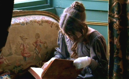 FROM THE BOOK: What book is Jane reading when we first meet her?