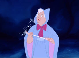 Cinderella's Fairy Godmother transforms the mice into ?