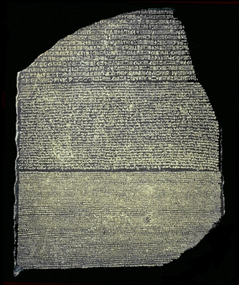 Who is credited with deciphering the Rosetta Stone?