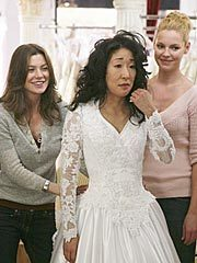 What color were the bridesmaid dresses at Cristina's wedding? (pretty easy sorry!)
