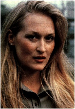 Which character is not played by Meryl Streep ?