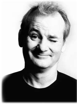 Which character is not played by Bill Murray ?