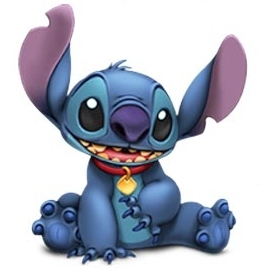 What famous movie does stitch imitate when lilo tells to use his imagination?