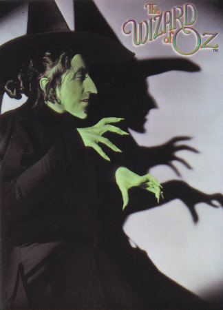 Through out the film something keeps changing on the wicked witch,What is it?
