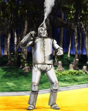 What does the tin man need when he rusts?