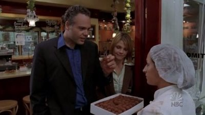 In 'Want,' Goren connects with a lonely chocolatier who is fascinated with women's calves. Who plays this disturbed fellow?