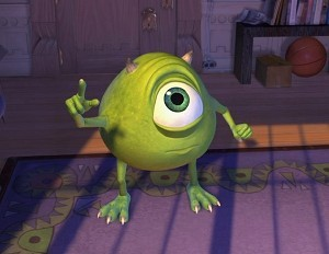 In which Pixar film does Mike Wazowski make a cameo appearance?