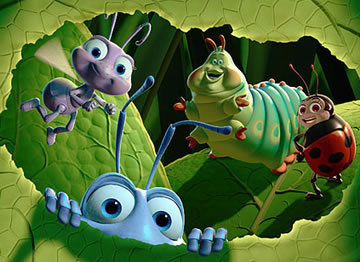A poster for the Broadway adaptation of what Disney film can be seen in 'A Bug's Life'?