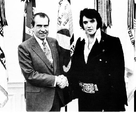 Which American President,Is Elvis meeting with?