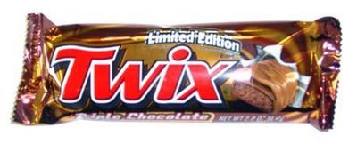 How many calories does a Twix(2 bars) have?