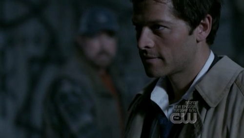 What did Castiel leave on Dean as proof a powerful being had dragged him back from hell?