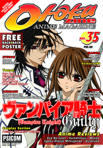 In the otakuzine issue 35(Vampire Knight Guilty Cover), The Prince of Tennis is in what section?