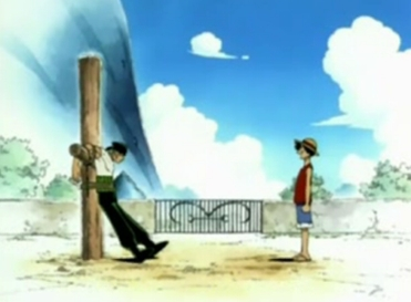 At the beginning of the show, Zoro was tied up and had to survive for a month. When Luffy meets Zoro, how many days did he have left?