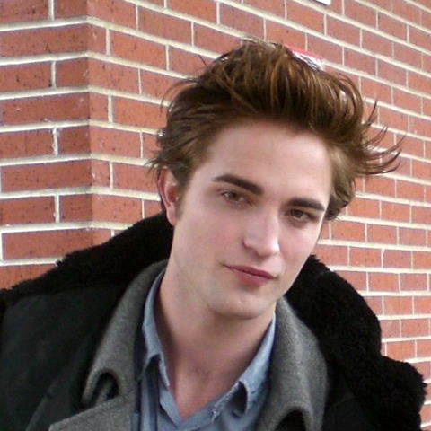 What does it say robert is on the blurb of the book robert pattinson true Amore never dies ?