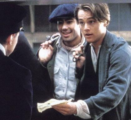 Which officer lets Jack & Fabrizio in Titanic?