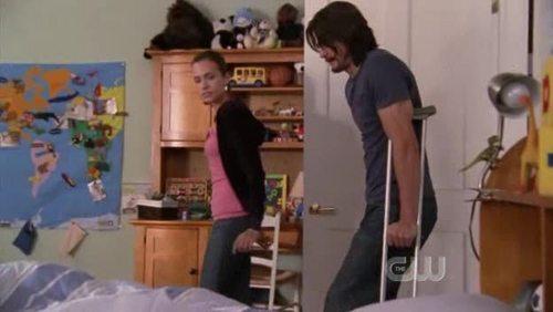 Is Jamie in his bedroom in this scene ?