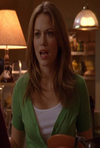 Who is Haley looking at in this scene?