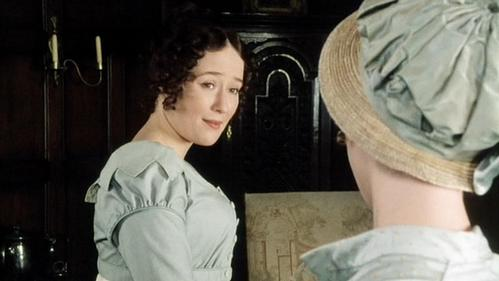 FROM THE 1995 MINISERIES: Who is Elizabeth talking to in this scene?