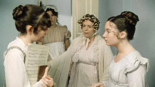 FROM THE 1995 MINISERIES: Why is Mrs. Bennet so upset in this scene?