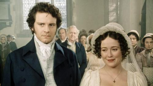 FROM THE 1995 MINISERIES: Who is NOT in attendance at Lizzie and Darcy's wedding?