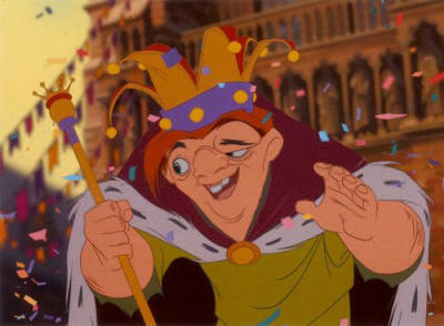 THE HUNCHBACK OF NOTRE DAME : Frollo: Shall we review your alphabet today? Quasimodo: Oh, yes, Master. I would like that very much. Frollo: Very well. B? Quasimodo: ___