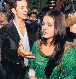 True or False: Aishwarya and Hrithik first came together on screen in dhoom 2?