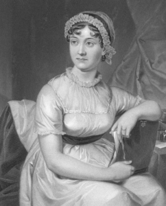 Which cast member is related to Jane Austen?