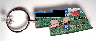 What U.S. state is on this keychain?
