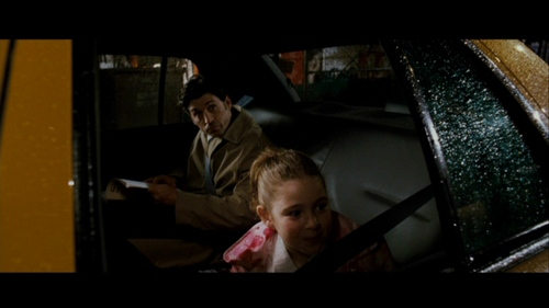 When morgan spotted a young woman on the billboard and got out of the car what did Robert say to her.