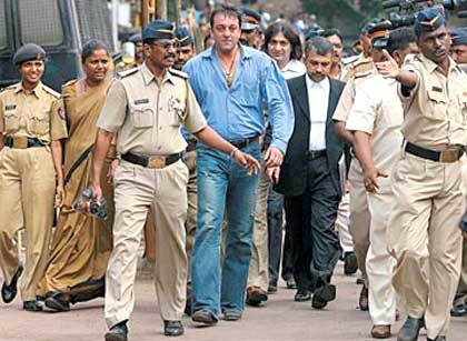 In which year was Sanjay Dutt arrested under the Terrorists and Disruptive Activities Prevention Act (TADA) for possessing an AK-56 Assault Rifle
