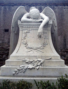 """The famous """"Angel of Grief"""" gravestone can be found in what city?"""