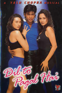 In what year did 'Dil to pagal hai' win the Filmfare award for best picture?