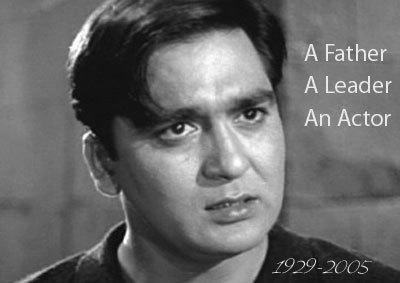 In which year did Sunil Dutt win the Filmfare lifetime achievement award?