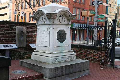 Where is Edgar Allen Poe's grave site located?