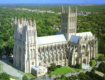 Who is the only U.S. President to be buried in the National Cathedral in Washington, DC?
