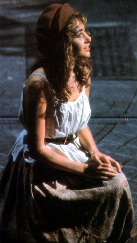 How did Eponine respond when Marius asked her who Cosette was?