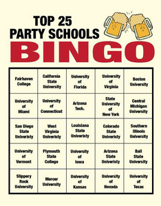 What party school does Barney need for bingo?