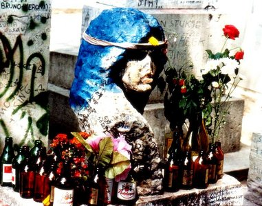 Jim Morrison is buried in the Pre Lachaise Cemetery ?