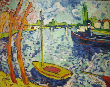 Maurice de Vlaminck's 'The River Seine at Chatouis' an example of what art movement?