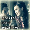 Which two fans do a &#34;secret headshake&#34; in the Gossip Girl spot whenever they agree on something?