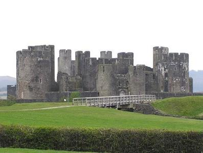 What is the name of this Welsh castle?