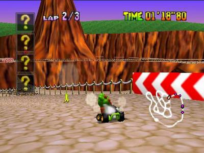 """What is the name of Yoshi's course in """"Mario Kart 64""""?"""