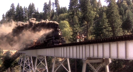 What state was the train scene filmed in?