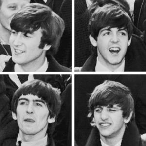 The first three Beatles song titles released in the British singles chart all contained which word?